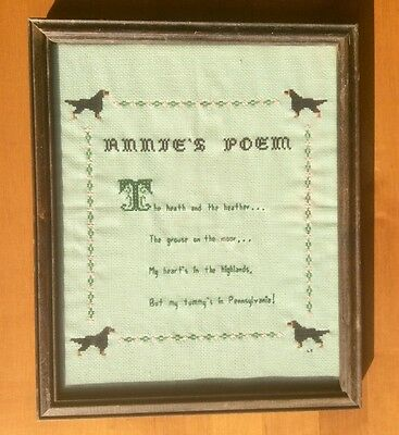 ANNIE'S POEM Vintage Needlepoint, For Those Who Love Dogs