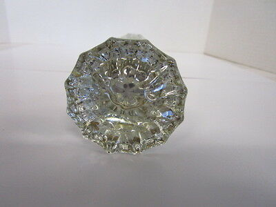 Vintage 12 Point Clear Glass Door Knobs