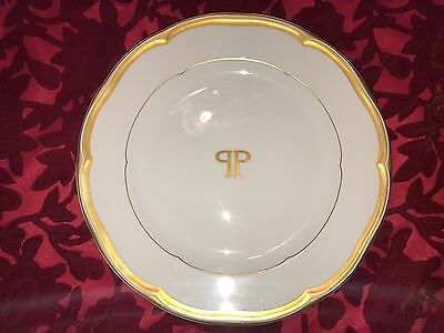 """Vintage THE PLAZA HOTEL  New York City 10"""" Dinner Plate  - Gold"""