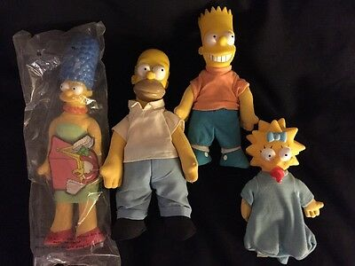 VINTAGE The Simpsons Burger King Doll Set Collection 1990 20th Century Fox LOT