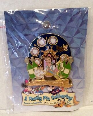 Disney Belle Beauty And The Beast ~Be Our Guest~ Spinner AC LE NOC Pin