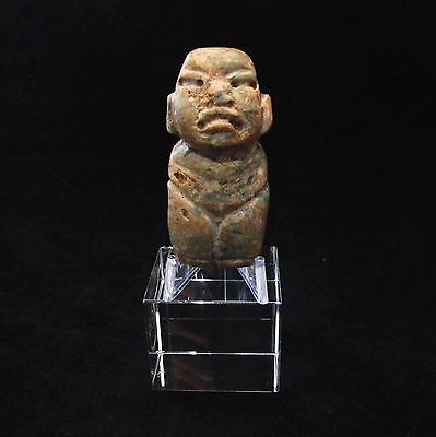 Ancient Pre-Columbian Olmec Carved Jade Pendant  ~ From a private collection