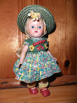 Vintage 1954 Vogue My Tiny Miss Series Ginny SLW Strung Painted Lash Medford Tag