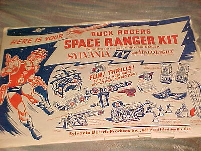 1952 Buck Rogers Space Ranger Kit Unpunched Sylvania Tv Promo