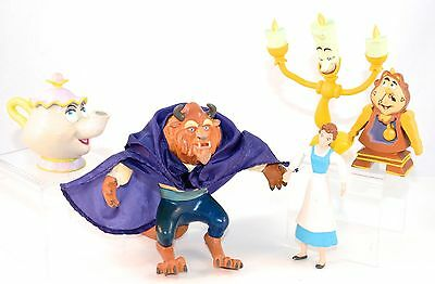 Disney Beauty and the Beast Bendable Figurine toys: Belle, Beast, Lumiere & more
