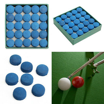 50Pcs Glue-on Pool Billiards Leather Blue Cue Tips Box Game Sport 9mm 10mm 13mm
