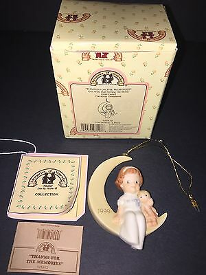 Enesco Memories Of Yesterday Girl With Doll Sitting On Moon 1999 Ornament 525812