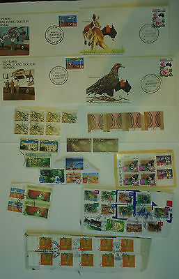 Australian stamps used on and off paper and FDCs
