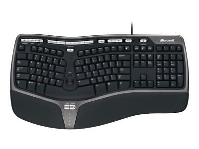 Microsoft Natural Ergonomic Keyboard 4000 USB Natural Arc Curve Typing Position