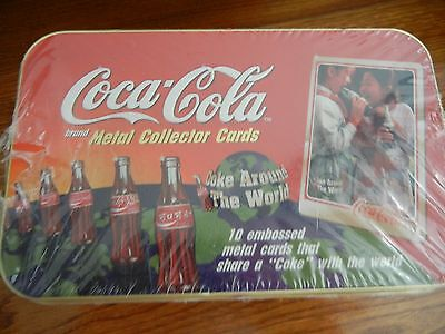 Coca-Cola Coke Around The World Metal Collector Cards Tin