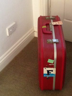 Red Suitcase vintage 1960s
