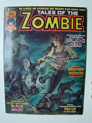 Tales of the Zombie Magazine #5 Brother Voodoo Horror Stories 1974 VG/FN