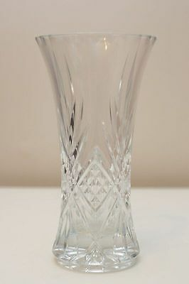 Beautiful Large Crystal Vase with Stylish Etching - Perfect Condition! Bargain!