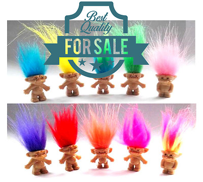 "5Pcs/lot Random vintage trolls Lucky Doll Mini Figures Toy 1"" cake toppers"