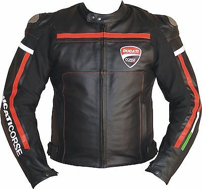 Ducati Corse Professional Motorcycle Racing Jacket with Titanium and CE Armor