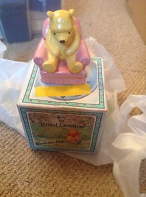royal doulton winnie the pooh figurines - In An Armchair