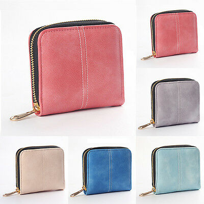 Womens Leather Long Mini Wallet Card Holder Zip Coin Purse Clutch Handbag New