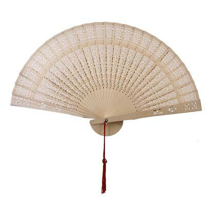 Chinese Japanese Sandalwood Hand Fan Wooden for Wedding Party Gift