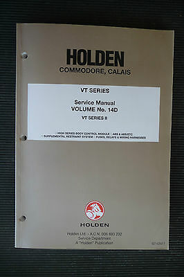 "HOLDEN  Commodore/CALAIS  "" VT series II"" Vol.14D genuine FACTORY SERVICE MANUAL"
