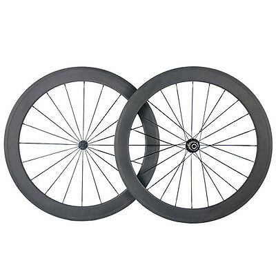 50mm Tubular Carbon Wheels Bicycle Cycling Road Bike Ultra Light 700C Wheelset