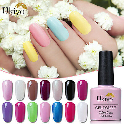 Ukiyo Soak Off Gel Nail Polish Top Base Coat Nail Art Manicure Kit 10ml UV LED