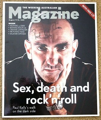 Paul Kelly Weekend Australian Magazine cover signed
