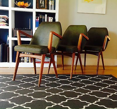 Retro 50s 60s Rockabilly COCKTAIL ARM CHAIR Mid Century Vintage Leather
