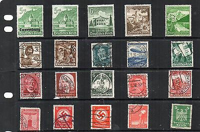 Stamps. Germany. 3rd. Reich. Various.