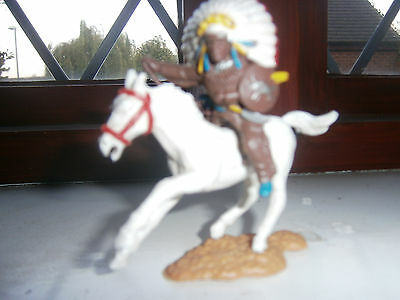 Timpo Horse & Britons Indian on Horseback 1960/1970