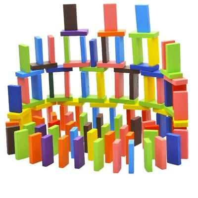 Kids Wooden Dominoes Set Toy Traditional Children 100pcs Domino Game Toy Fun