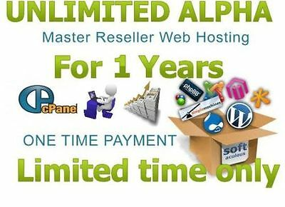 Alpha Reseller Web Hosting For One Year cPanel/WHM/Master Wordpress £5.49 p/y