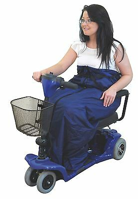 Large Fleece-Lined Navy Blue Scooter Cosy Leg Protector WaterProof Mobility Aid