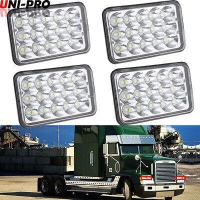 4X LED Headlights Projector Lens Sealed Beam Bulb For FREIGHTLINER FLD 120 112