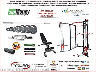 Power Rack Cable Cross Lat Attachment  ChinUp Monkey Bar Power Cage Cable Cross
