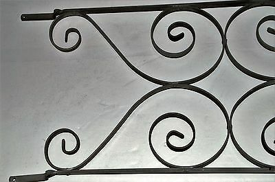 "Vintage Aluminum Screen Door Grill Guard Scroll Hardware Mid Century 30"" by 12"""