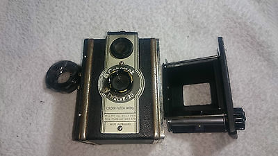 1950s Coronet Twelve-20 120 & 620 Roll Film Box Camera - Shoot From Hip TLR