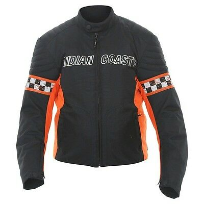 7aa65ced10fa Indian Coast Textiljacke Motorradjacke schwarz orange Gr.M von BikerWorld