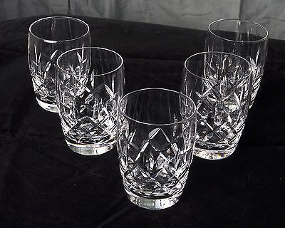Five Vintage Stuart Cut Glasses; Ashford Design, 1955, Old fashion Whisky Glass