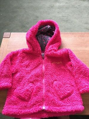Girls Pink Pineapple Jacket Age 6-9 Months.