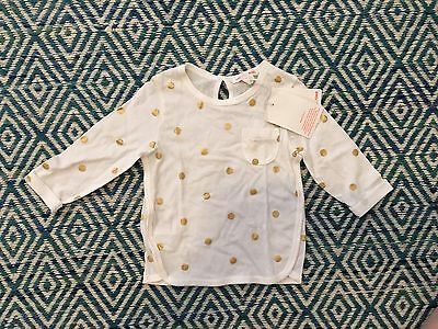 Country Road Baby Gold Spot Tee 6-12m