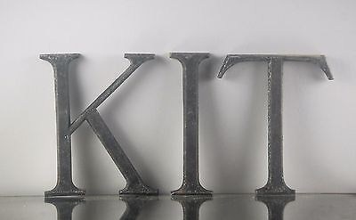 Antique Bronze Trade Sign Letters - Kit -Reclaimed Shop Sign - Hallway / Locker