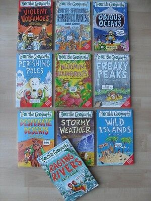 Set Of 10 Horrible Geography Educational Books - Perfect For Homework - Boxed