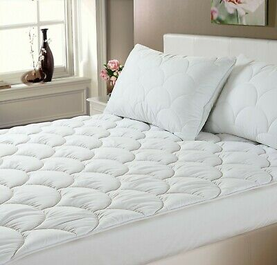 Anti Allergy Luxury Cloud Quilted Mattress Topper / Protector Single Double King