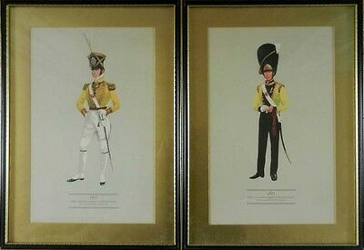 2 Military Prints (Uniforms of the British Army) illustrated by P H Smitherman