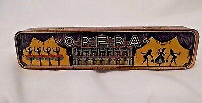 Antique Harmonica Opera Made In West Germany With Decorative Tin Box Untested