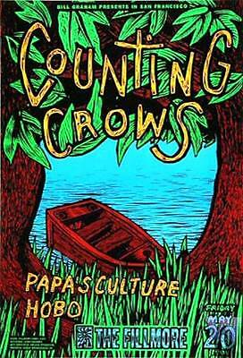 Counting Crows Original Bill Graham Fillmore Gig Concert Poster