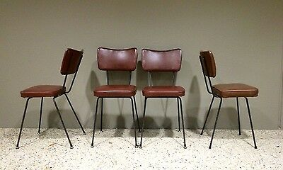 Four Retro Vintage Kitchen Chairs, Dining Chairs