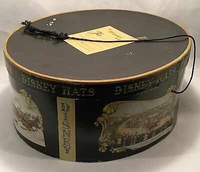 c.1940s MR. DISNEY Oval Advertising Hat Box w/ CURRIER & IVES Print Decoration