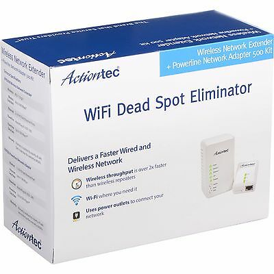 Actiontec PWR51WK01 Wireless Network Extender with Powerline Network Adapter kit