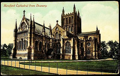 Hereford Cathedral From Deanery Posted 1915 Stamped